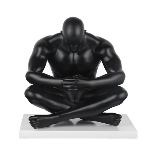 Deep Thinker Sculpture Matte Black