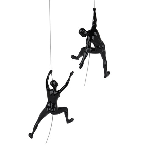 """I've Got You"" Climbing pair in Black Gloss"