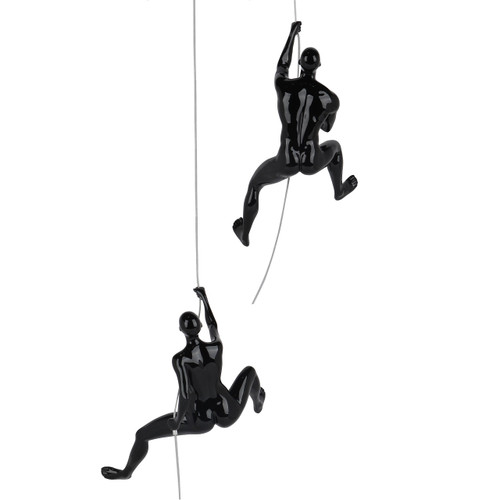 Onward and Upward - Climbing People in Black Gloss