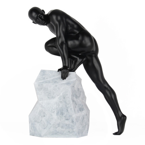 Sensuality Sculpture in Matte Black