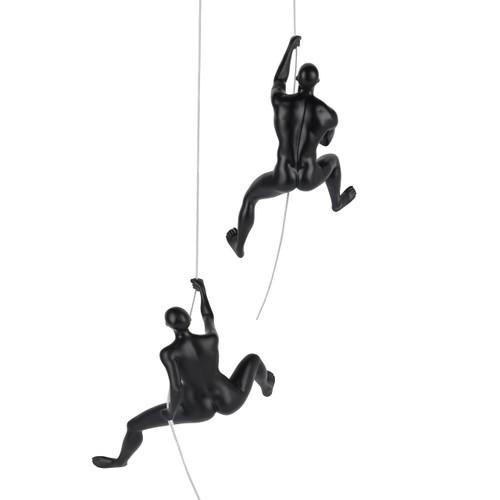 Climbing Pair (Man D & Woman D) - Onward and Upward - Matte Black