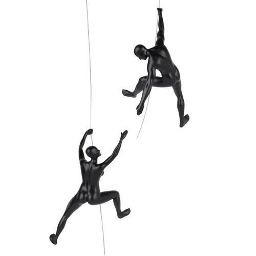 "Climbing Pair - I've Got You"" in matte black (Man C & Woman C)"