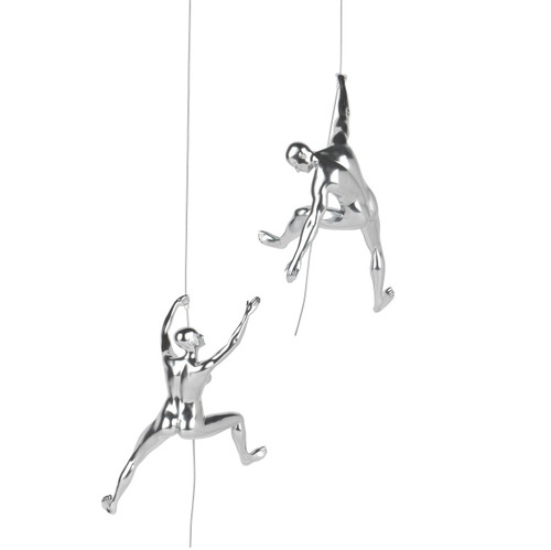 Climbing Pair - I've Got You - Steel finish (Man C & Woman C)