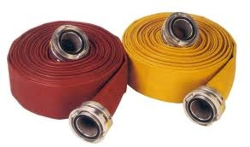 "JAFRIB Municipal Supply Fire Hose 50', Storz Aluminum Couplings, Choose 4"" or 5"" Hose"