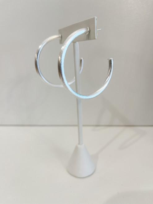 Small everybodys favorite hoop-Brushed Silver