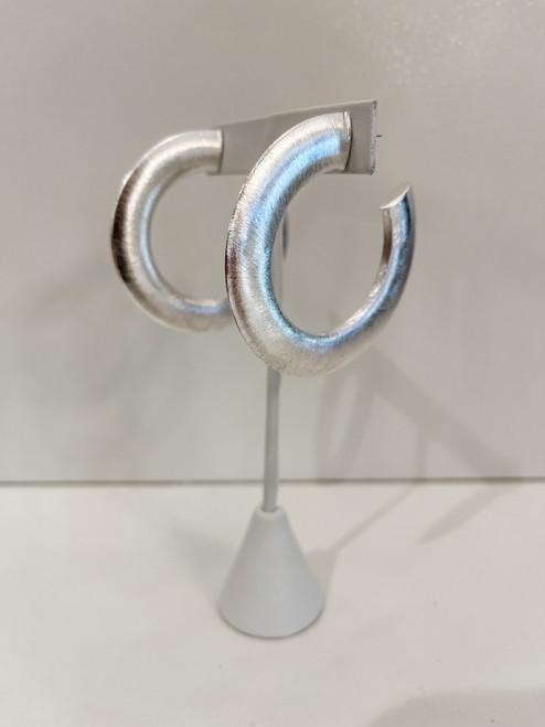 Irene Hoop-Brushed silver