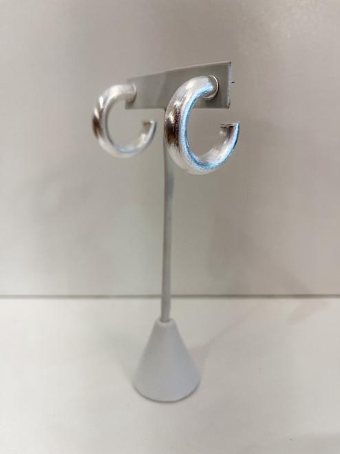 Small Chantal hoop- Silver