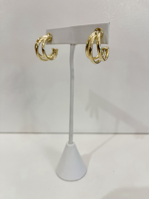 18K Gold Plated Claire Triple Hoop - Small