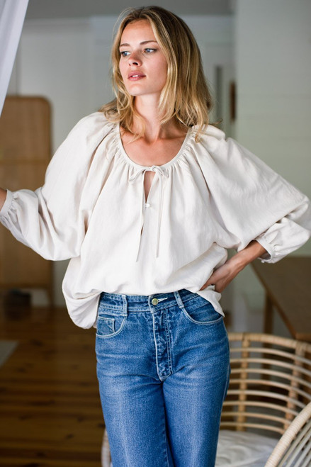 Lucy Blouse  - Almond