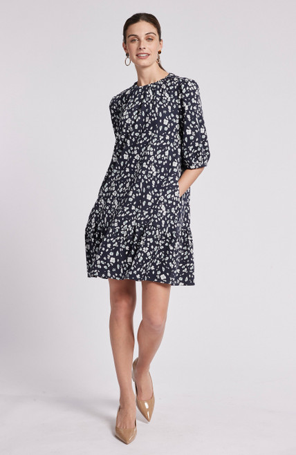 Tinsley Dress - Floral Abstract