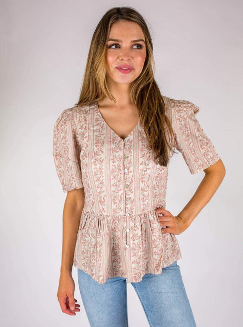 The Ashley Top - Red Vine
