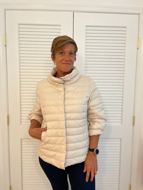 The Jewel Quilted Jacket - Bone