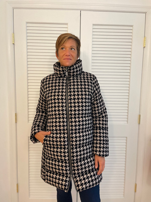 Flocked Puffer - Houndstooth