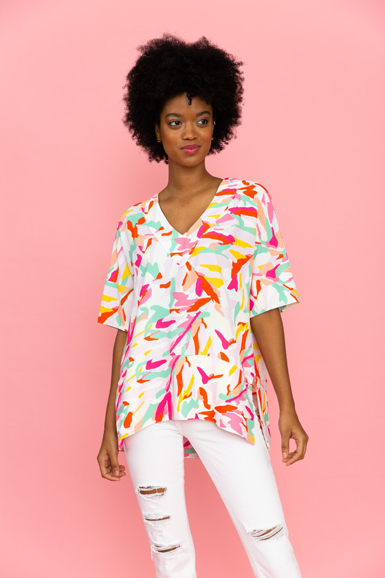 Susie Tunic-water lilies