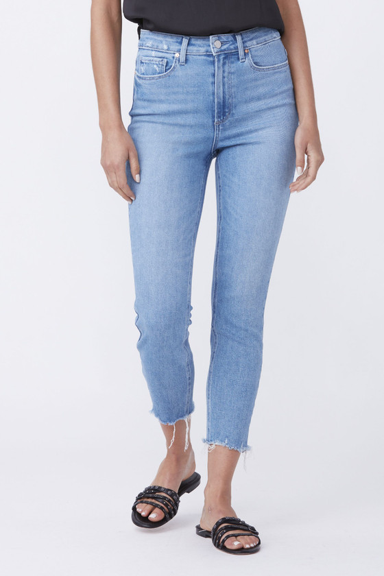 Margot Crop - Lovesong Distressed With Tuned Hem