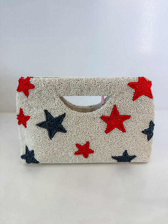 Beaded Cut Out Handle-Stars