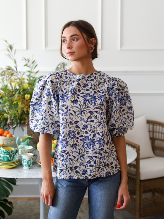 Lila Top - Blue Tiger Lily