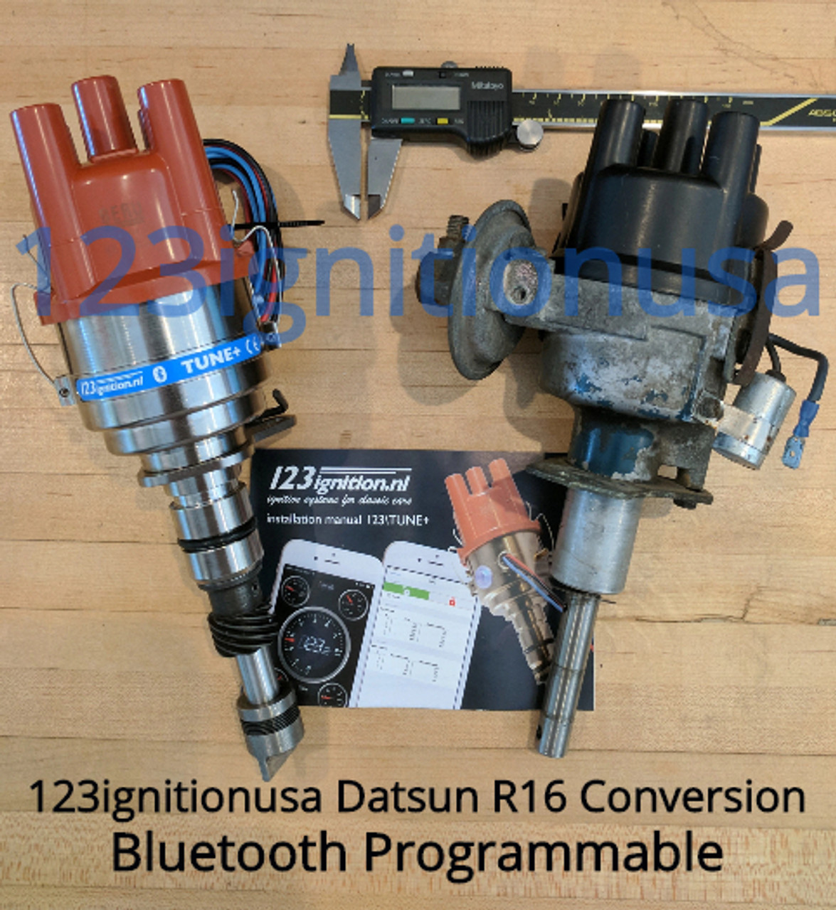 Datsun R16 Roadster Distributor (Bluetooth Programmable) R16 311,411,1600,2000,411SSS,U20,H20  L4 engine (Built to Order)($40 Refundable Core Charge) - No Refunds or cancellations