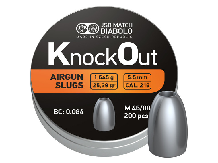 jsb knockout slugs 22cal 25.39gr