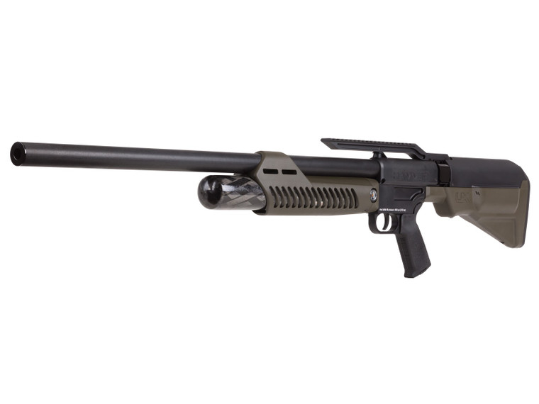 Umarex Hammer 50cal PCP Rifle, left side quartered view, for sale at High Pressure Pneumatics