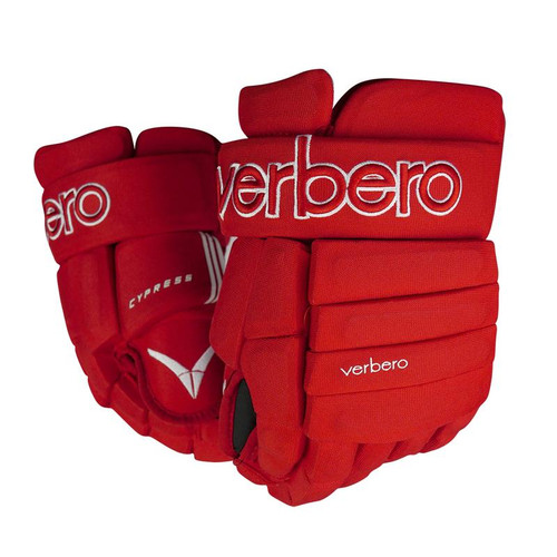 Verbero Cypress 4-Roll Jr Red Hockey Gloves