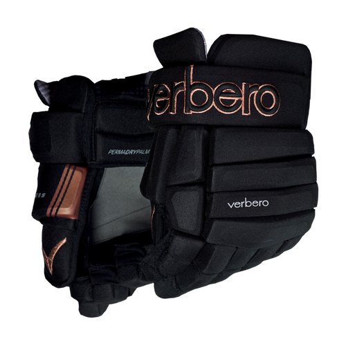 Verbero Cypress 4-Roll Jr Black Copper Hockey Gloves