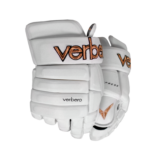Verbero Cypress 4-Roll Jr White Copper Hockey Gloves