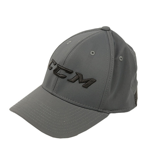 CCM Red Stretch Flex Cap Adult Hat Grey