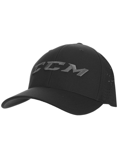 Hat - CCM - Red Perforated Flex Cap Adult