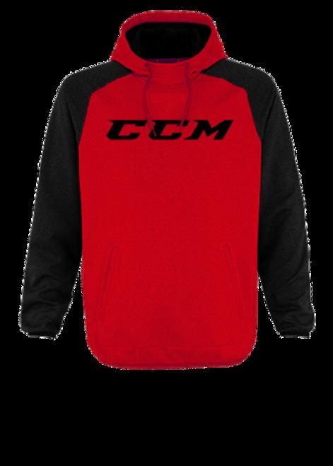 CCM Red Tech Pullover Hoodie Sweatshirt