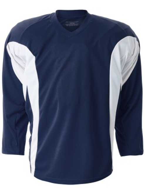 Firstar Rink Flow Hockey Jersey Navy / White 100% Pro weight fabric Flow-Tech Breathable Mesh