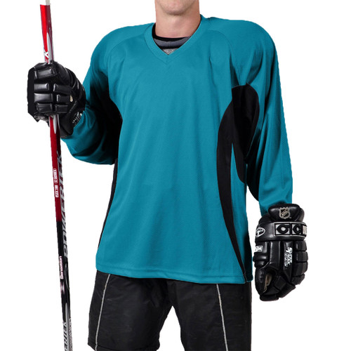 Firstar Rink Flow Hockey Jersey Teal with Black