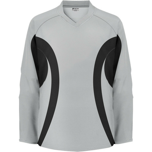 Firstar Rink Flow Hockey Jersey Grey / Black Breathable Mesh