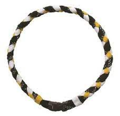 Necklace - Hockey Lace - 16 Inch Black/Gold