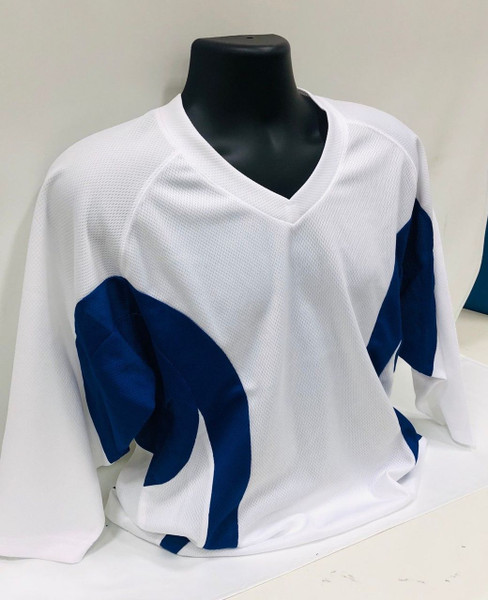 Firstar Hockey Practice Jersey White / Navy Blue