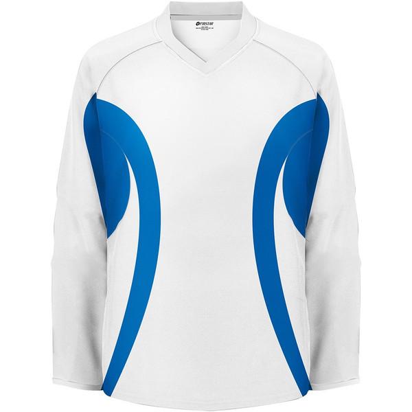 Firstar Hockey Practice Jersey White / Royal Blue