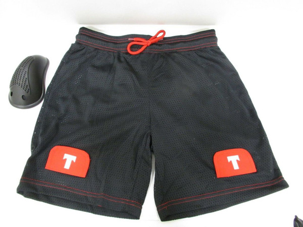 TronX Men`s Loose Fit Ice-Hockey Mesh Jock Shorts with Cup (Senior-Large)