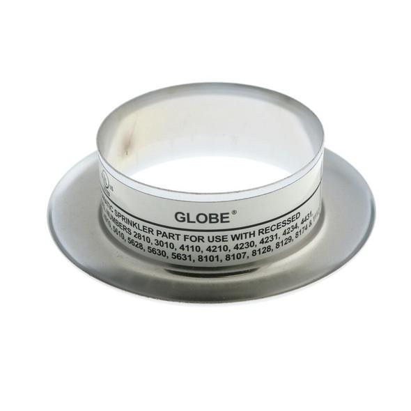 """Globe GL Recessed Slip On Escutcheon - 1/2"""" Adjustment - Chrome GL3010, GL4110, GL4231, GL4431, GL4710, GL4910, GL5601, GL5610, GL5628, GL8101, GL8106, GL8107, GL8128, L8129, GL8151, GL8156, GL8174, and GL1112"""