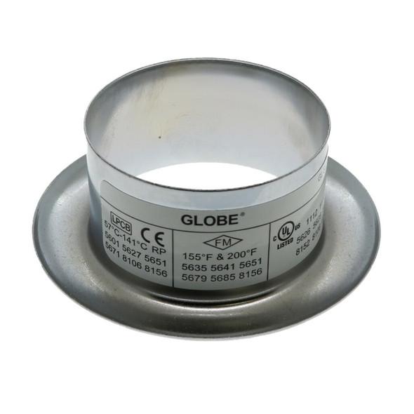 "Globe GL Recessed Slip On Escutcheon - 3/4"" Adjustment - Chrome"
