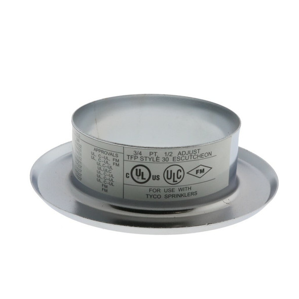 Tyco Style 30 Recessed Fire Sprinkler Escutcheon