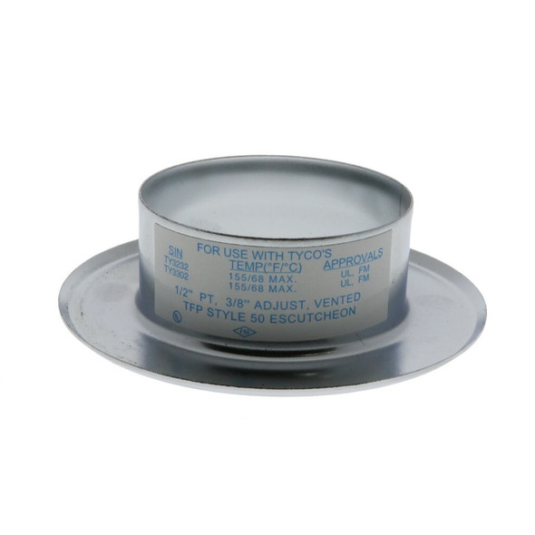 Tyco Style 50 Recessed Fire Sprinkler Escutcheon