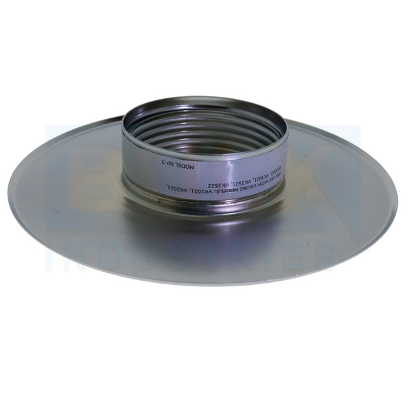 Viking Recessed NP-3 Thread On Seismic Escutcheon - Available In Multiple Colors And Head Sizes