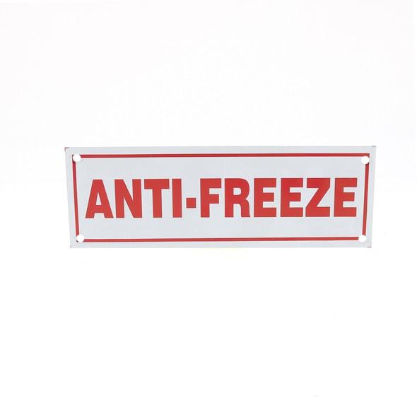 Anti-Freeze Sign