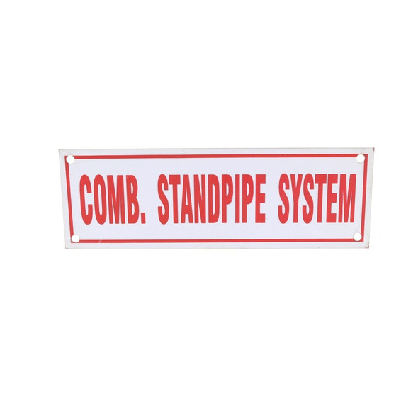 Comb Standpipe system Sign