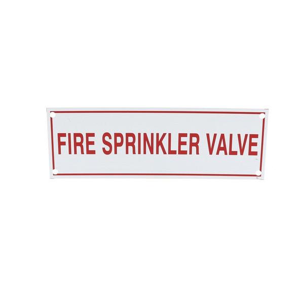 Fire Sprinkler Valve Sign