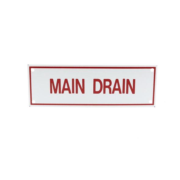 Main Drain Sign
