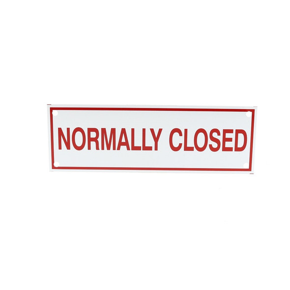 Normally Closed Sign
