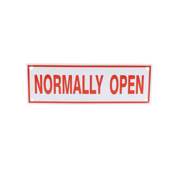 Normally Open Sign