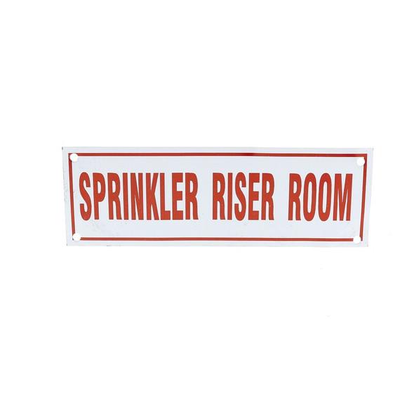 Sprinkler Riser Room Sign