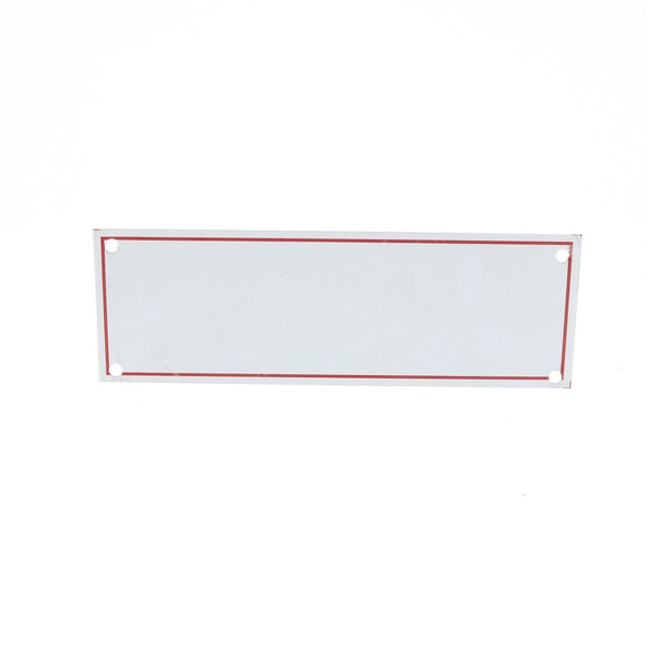 Blank With Red Border Sign